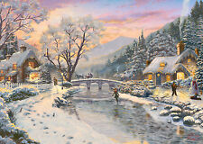 GIBSONS THOMAS KINKADE WINTER EVENING DUSK 1000 PIECE JIGSAW PUZZLE