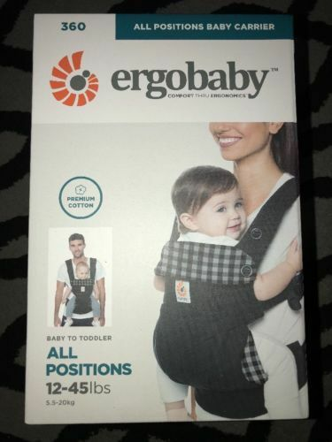 cd92a3027f7 Ergobaby 360 All Positions Baby Carrier Bc360ging Gingham Noir for sale  online