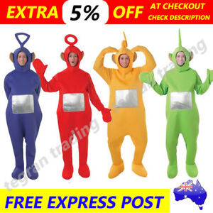 teletubbies adult jumpsuit party fancy dress up unisex