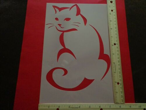 LARGE CAT AIRBRUSH PAINT BRUSH TEMPLATE ART STENCIL