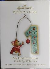 NIB 2010 HALLMARK KEEPSAKE ORNAMENT MY FIRST CHRISTMAS CHILDS AGE COLLECTION 1st