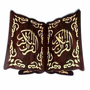 Coran-Sacre-Livre-Support-support-bois-rehal-RIHAL-rahle-Allah-Ramazan