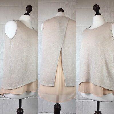 Kleidung & Accessoires Herrlich Envelope Peach Top Skinny Knit Lagenlook Back Split Designer Los Angeles 12 /t57 Blusen, Tops & Shirts