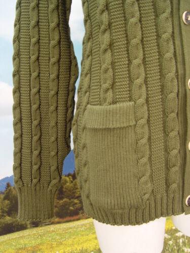 verde cardigan Grande 55 a fantasia taglia Janker giacca Trachtenjacke trecce w5FqFdp