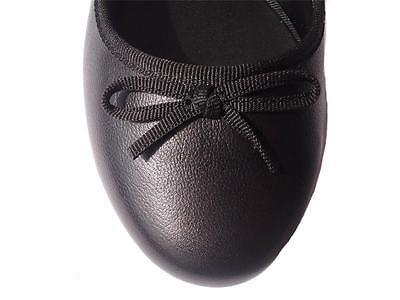 New Women Ladies Diana Ferrari Leather Shoe/Work/Flat Black Size 6/7/8/9/10/11