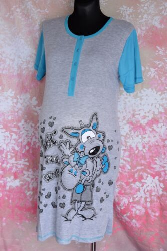 Woman maternity nightdress nightwear with buttons and short sleeve M55
