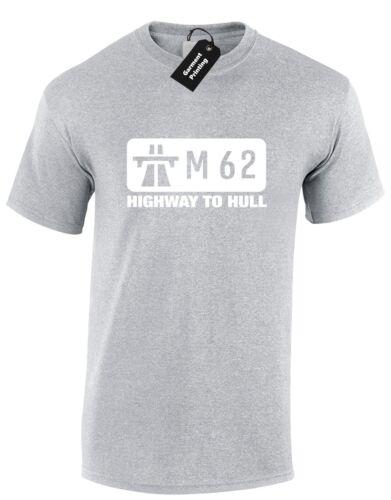 Autoroute M62 à hull hommes t shirt amusant yorkshire haut décontracté s-xxxl