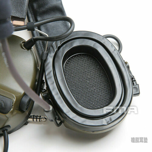 FMA Earpiece Mat Soft Gel Ear Cushions Silicone Pad For COMTAC Peltor Headsets