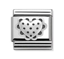 Nomination Charm Silver Shine Heart RRP £22
