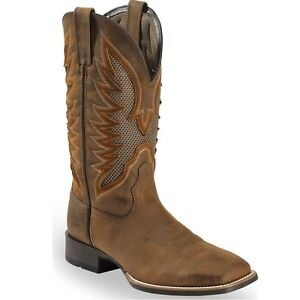 Ariat Mens VentTEK Ultra Square Toe Western Boot Distressed Brown 10023129