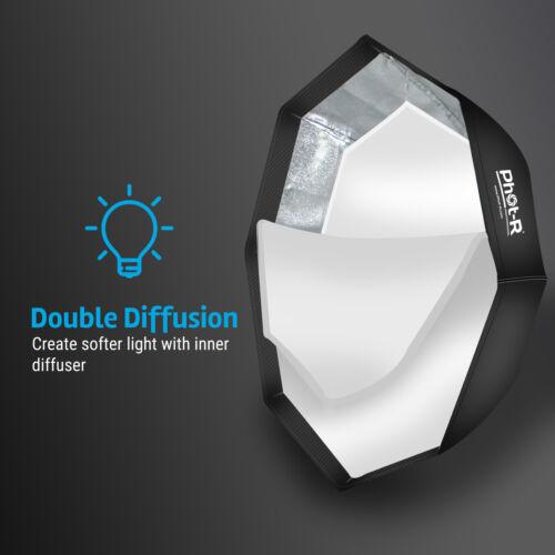 "Photr 95cm//38 /""Octagon Paraguas Softbox Reflector Speedlite Bowens Flash S Tipo"