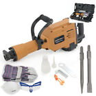 2800W Construction Demolition Jack Hammer Electric Concrete Breaker 2 Chisel Bit