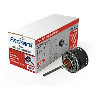 115 Volts Packard 43581 48 Frame Direct Drive Blower Motor 1075 RPM 1//6 HP