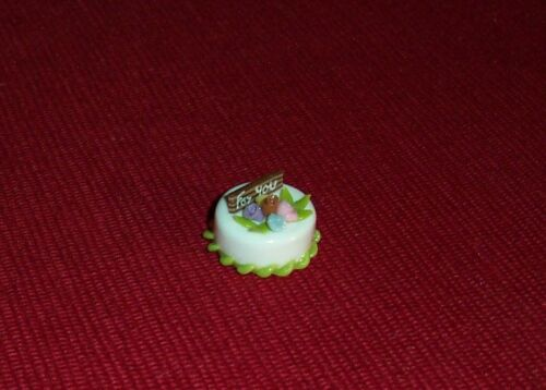 deliziosa torta-MINIATURA-LAVORAZIONE MANUALE-bambole Tube-t8 Tutto per la pasticceria