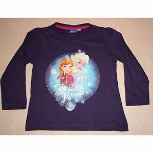 DISNEY-t-shirt-LA-REINE-DES-NEIGES-2-3-4-5-6-7-ans-manches-longues-NEUF