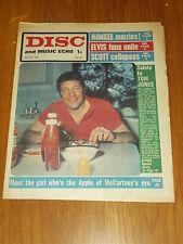 DISC AND MUSIC ECHO JULY 27 1968 TOM JONES MONKEES ELVIS PAUL MCCARTNEY