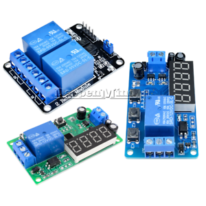 Digital 12V/5V 2 Channel Relay LED Delay Timer Control Switch Relay Automation