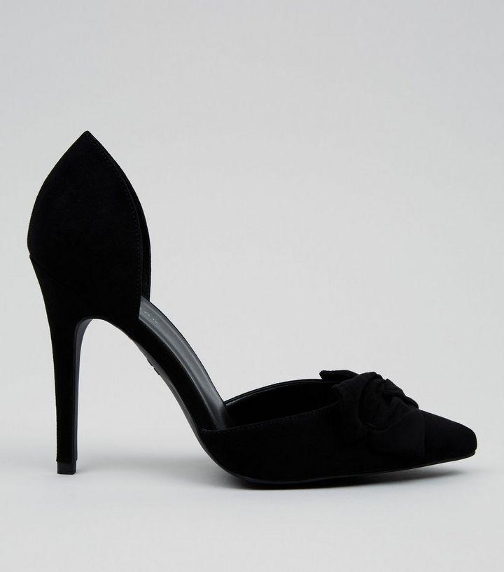 Nuevo Look Nuevo Negro Imitación arco frontal puntiagudo Tribunal Tribunal Tribunal Zapatos Talla Uk 5  la mejor selección de