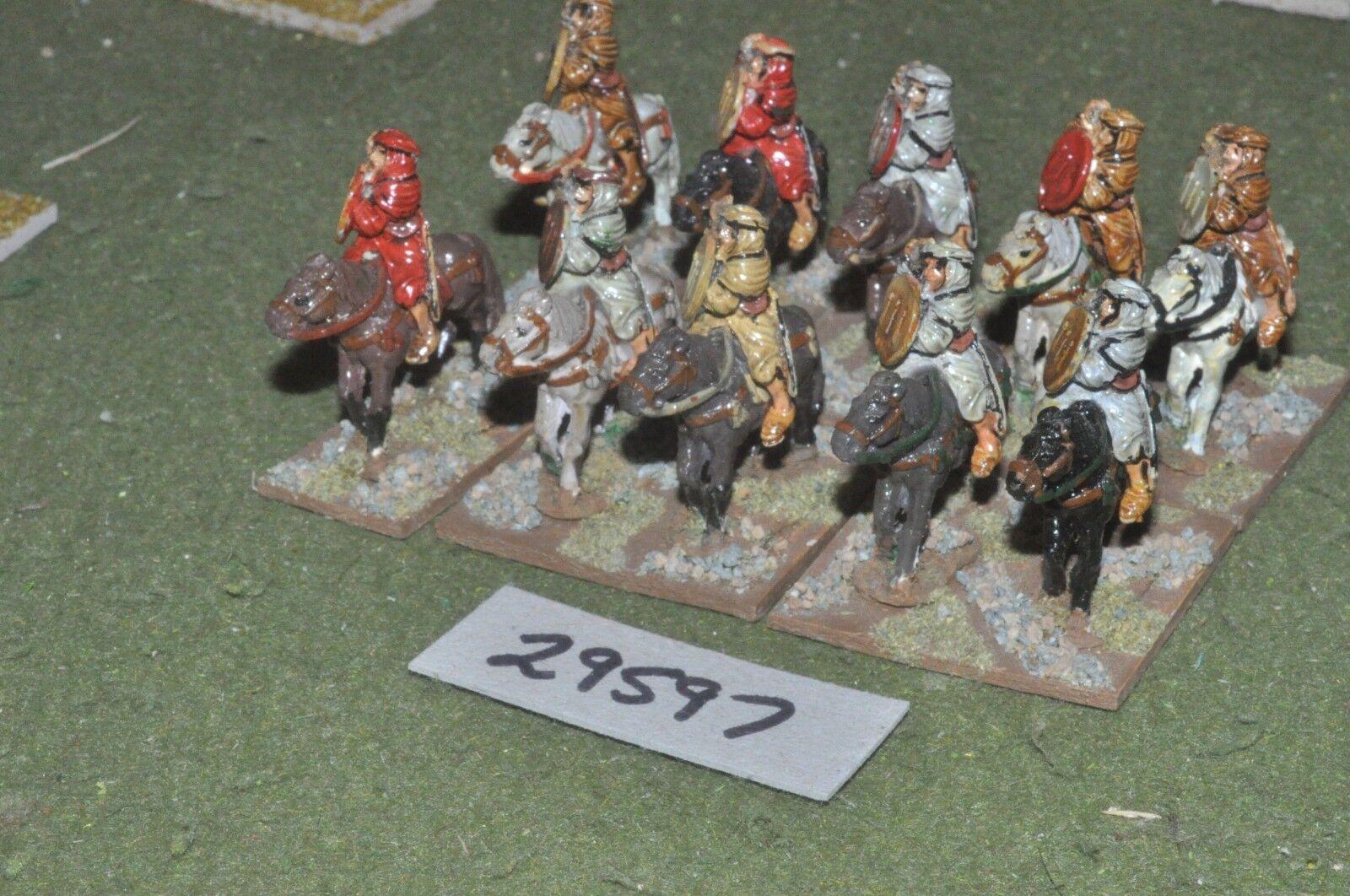 25mm medieval   saracen - heavy 10 figures - cav (29597)