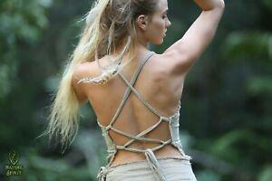 Raw-Cotton-Tribal-Top-Fairy-Boho-Pixie-Festival-Gypsy-Goa-Hippie-Summer-Backles