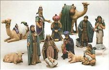 Ceramic Bisque Duncan Christmas Large Nativity Set 13 Pieces Ready to Paint