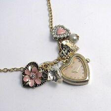 Fabulous Accessorize Ladies Pendant Watch  Charms Hearts Model J1065