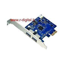 SCHEDA PCI USB 3.0 SUPERSPEED 2 PORTE EXPRESS CARD 5 Gbps HUB SDOPPIATORE USB 3