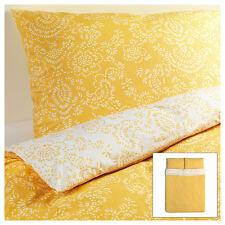 IKEA Akertistel Duvet Quilt Cover Full Queen Yellow retro floral ÅKERTISTEL New