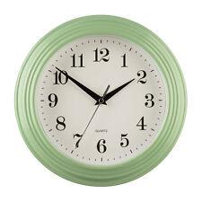 Vintage Gran Redondas Verde Diseño Cocina Hogar Cuarzo tiempo Oficina Sala De Reloj De Pared