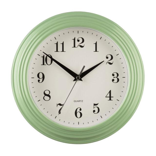 Large Vintage Green Round Design Kitchen Home Office Deco Quartz Wall Time Clock