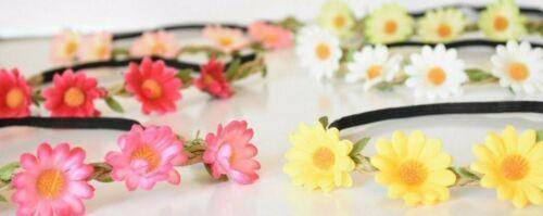 12 PARTY FAVORS HEADBANDS DAISY FLOWERS BIRTHDAY GIFTS RECUERDOS FLORES DIA DE