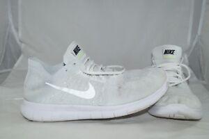 Details zu Nike Free RN Flyknit GR: 42 Weiss Damenschuhe Sportschuhe  Laufschuhe