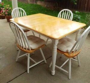 Set Table With Leaf And 4 Dining