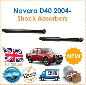 Para-Nissan-NP300-Navara-D40-2004-Dos-Traseros-Gasolina-Amortiguadores-Set