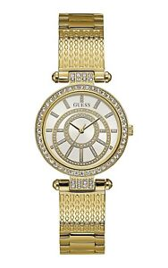AUTHENTIC-GUESS-LADY-MUSE-GOLD-TONE-WATCH-W1008L2-RRP-429-Brand-New