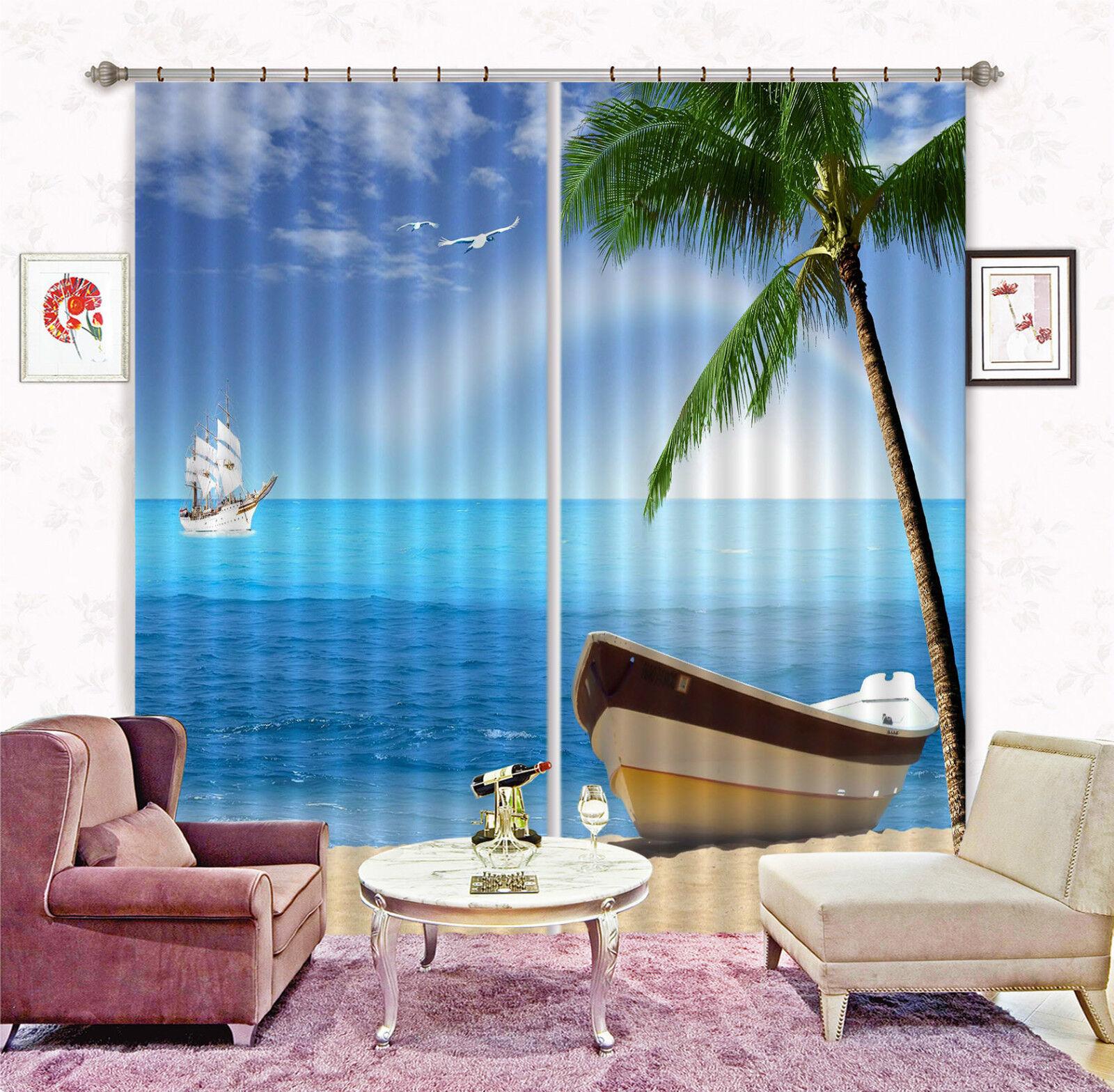 3d mare barca 6377 blocco foto sipario pressione sipario tende tessuto finestra de
