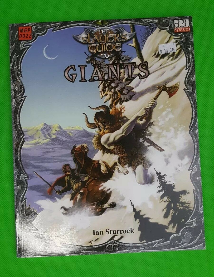 The Slayer's Guide to Giants MGP 0022 d20 System System System NEW D&D table top game destroy 9e6eec