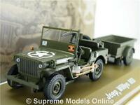 Jeep Willys Mb Army Military Model Car & Trailer 1:43 Scale Issue K8967q