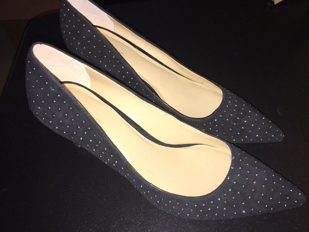Ann Taylor Pumps Black With Gold Studs Size 8.5 NWT