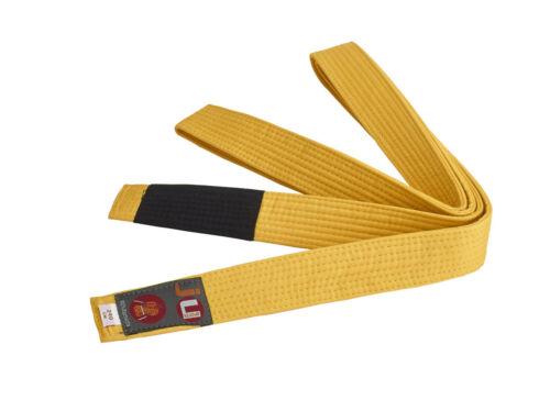 4cm breit Ju-Sports- BJJ Kindergürtel Budo. gelb 220cm 100/% Baumwolle