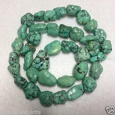 Kingston Turquoise Free-form Nugget Beads Approx 16-21mm 11-18mm and 38 Beads