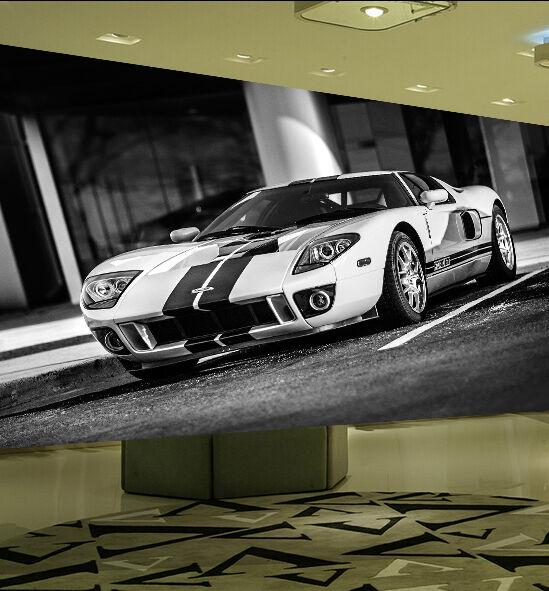 3D Weiß teure Autos 244 Fototapeten Wandbild Bild Tapete Familie Kinder