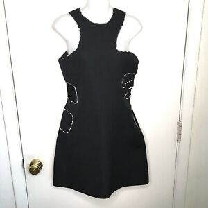 Preen Thornton Bregazzi Collection Large Dress Asymmetrical Black Cocktail LBD
