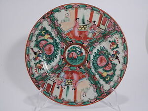VINTAGE-PIATTO-COLLEZIONE-ORIENTALE-HONG-KONG-DIPINTO-MANO-HAND-MADE-OLD-PLATE