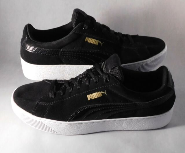 competitive price f6e04 715c8 PUMA Suede Classic Mens Black Lace up SNEAKERS Shoes 9.5