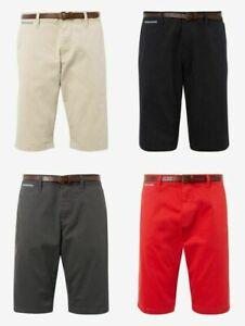 Tom Tailor Herren Josh Regular Slim Chino Shorts inkl. Gürtel