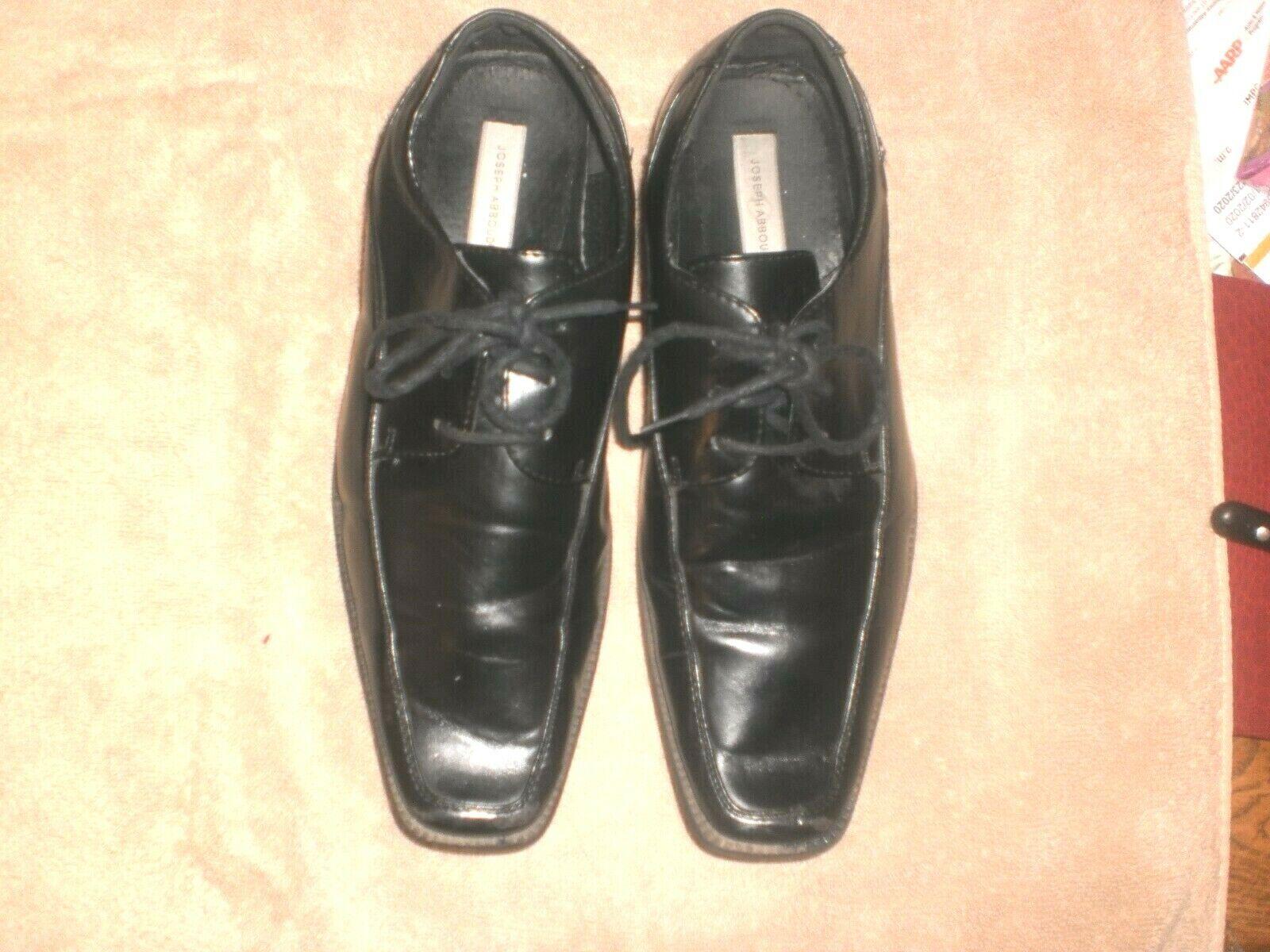Mens/teen Joseph Abboud Black Dress Shoes Sz 8 1/2 M Leather lining