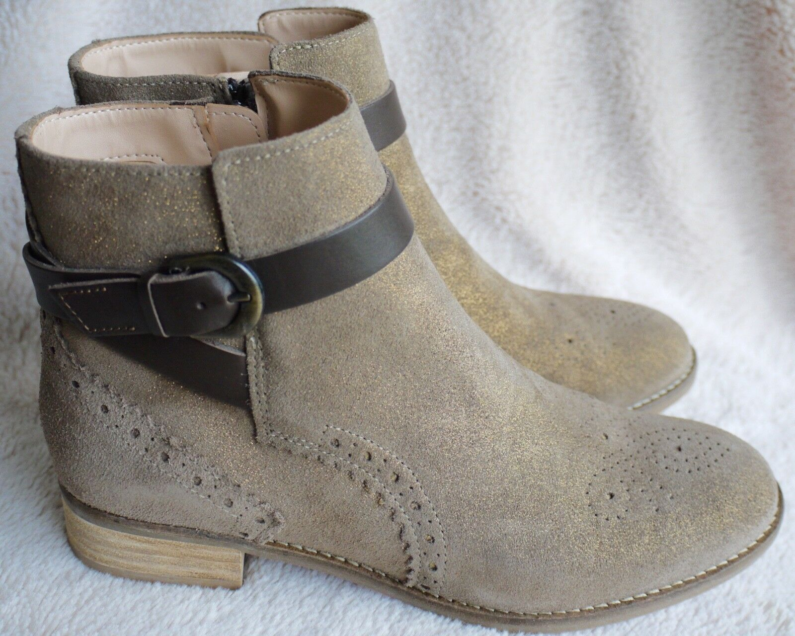 03ecf64294 Clarks Netley Olivia Taupe Suede Ankle BOOTS UK 5.5 EU 39 for sale online |  eBay