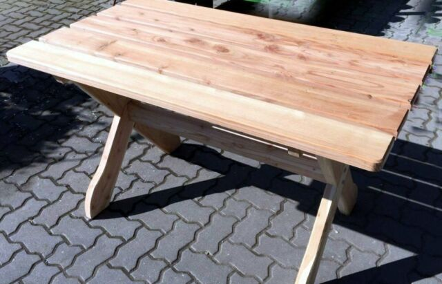 Holztisch Gartentisch.Holz Massiv Tisch 130 X 74 Cm Fsc Lärche Holztisch Gartentisch Terrassentisch Ne