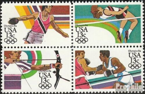 U.S. 16441647 block of four mint never hinged mnh 1983 Olympics Summer ´84